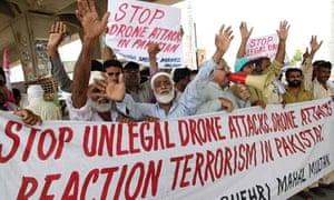 Pakistani Protesters Drones Multan