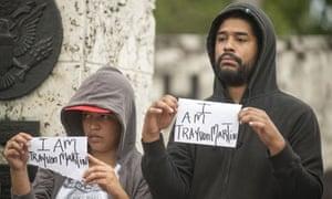 Trayvon Martin supporters in Miami