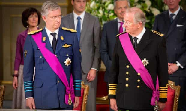 King Albert II and Prince Philippe of Belgium