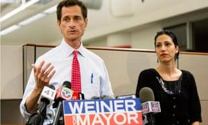 Anthony Weiner and wife Huma Abedin