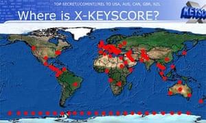 XKeyscore map