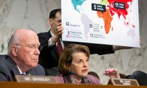 Patrick Leahy, Dianne Feinstein NSA hearing
