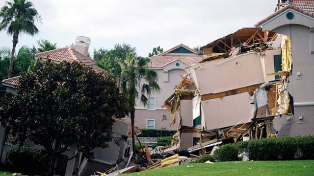 Florida Sinkhole Swallows Section Of Resort Villa Near