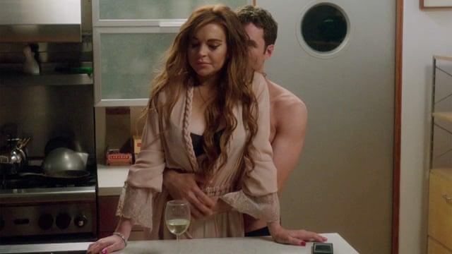 Lindsay Lohan heeft haar reputatie aardig in stand weten te houden op de set van haar nieuwste film The Canyons.