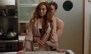Lindsay Lohan and James Deen in a still from The Canyons