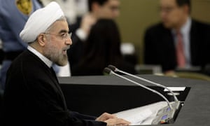 """Iranian president Hassan Rouhani: """"There is no issue... that cannot be resolved by mutual respect... Iran's nuclear dossier is a case in point."""""""