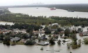 Braithwaite, Louisiana, inundated with flood waters in 2012