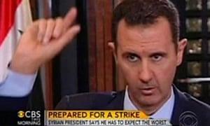 Bashar al-Assad talks to Charlie Rose