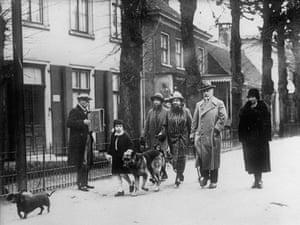 Emperor Wilhelm II with his family in Doorn, Netherlands, 1926