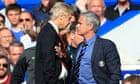 Jose Mourinho (right) has a heated exchange