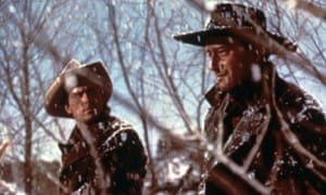 Jeffrey Hunter and John Wayne in The Searchers
