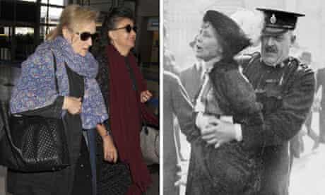 Composite of Meryl Streep and Emmeline Pankhurst