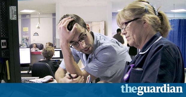 On the NHS frontline: 'being a doctor in A&E is like being a medic in a war zone' | Society | The Guardian