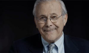 Donald Rumsfeld in a still from the film The Unknown Known
