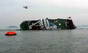 Ferry capsizes and sinks off the coast of South Korea