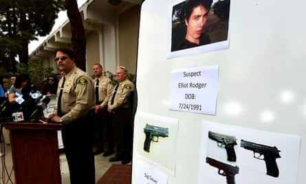 Santa Barbara County Sheriff Bill Brown identifies murder suspect Elliot Rodger (photo right) and so