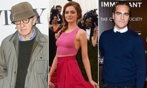 Woody Allen, along with Emma Stone and Joaquin Phoenix, who will appear in his new film