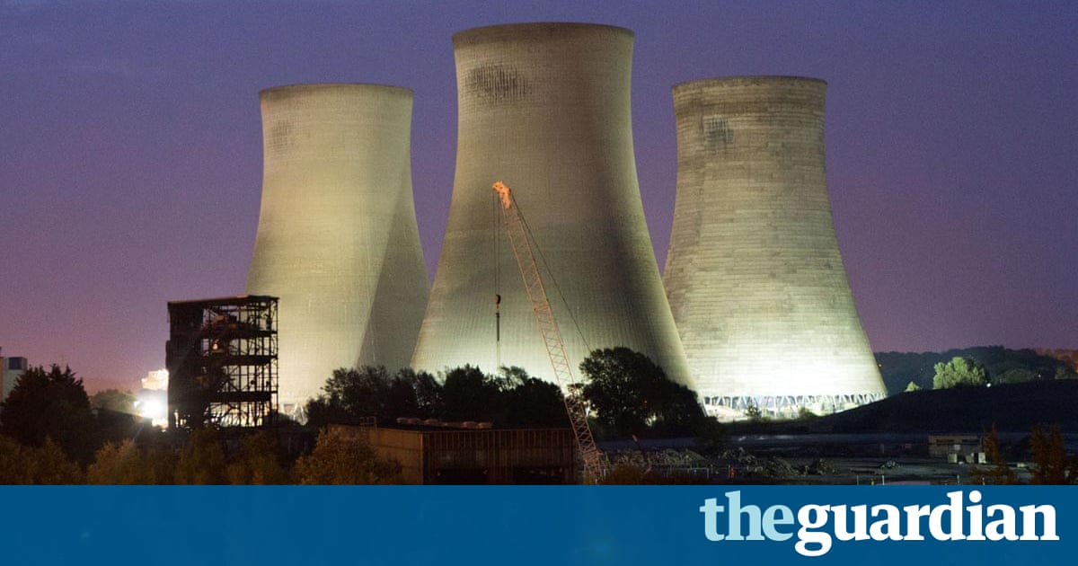Didcot Power Station Cooling Towers Demolished Video