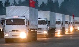 Russian trucks leave Moscow for Ukraine