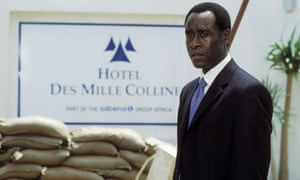 hotel rwanda history a hollywood ending world news the don cheadle in hotel rwanda