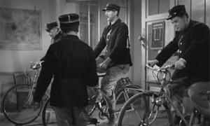 Still from Jacques Tati's short film The School for Postmen