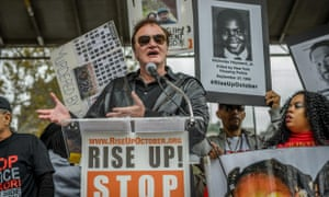 Supporting images for Quentin Tarantino speaks at anti-police brutality protest  video