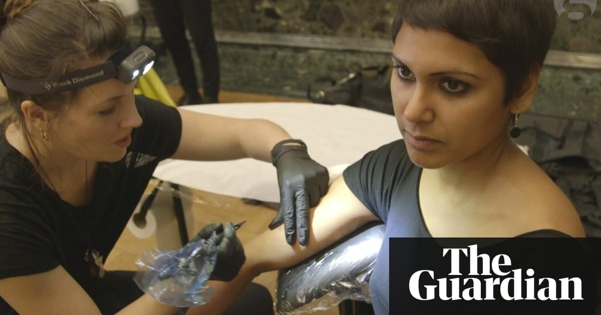 Climate Activists Stage Tattoo Protest Against BP at Tate Britain