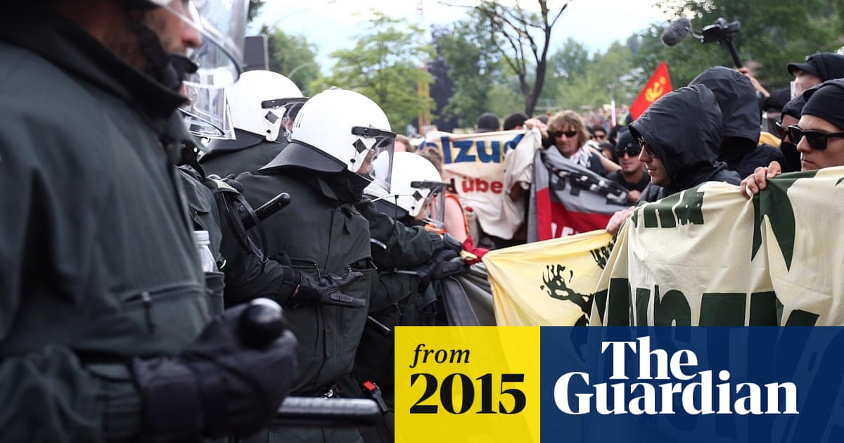 G7 summit: protesters clash with police - video