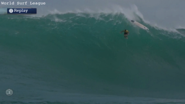 Biggest In Years Rare Eddie Surf Competition Draws Thousands - Guys sets himself on fire before surfing a huge wave