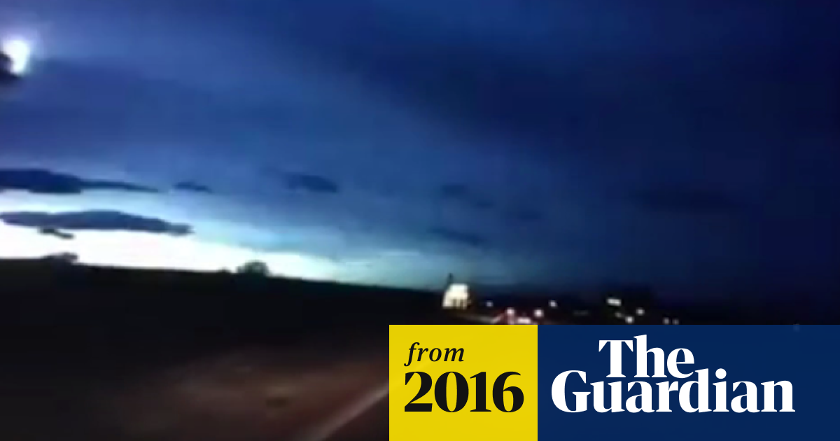 Meteor shower' caught on camera in skies over Scotland – video | UK