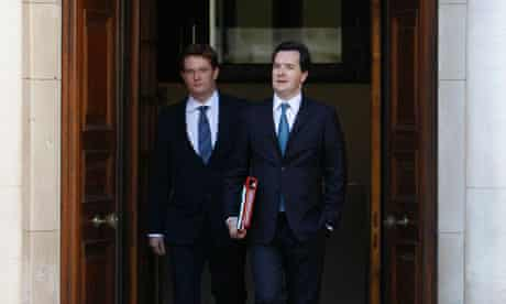 Chancellor George Osborne and chief secretary to the Treasury, Danny Alexander