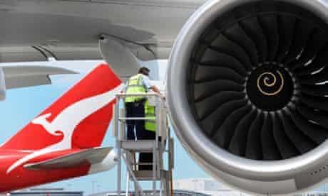 Qantas A380 Airbus at Sydney Airport 2008