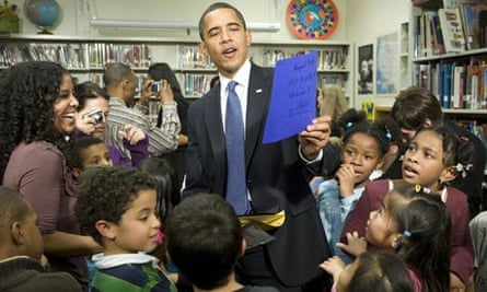 President Obama at a US charter school