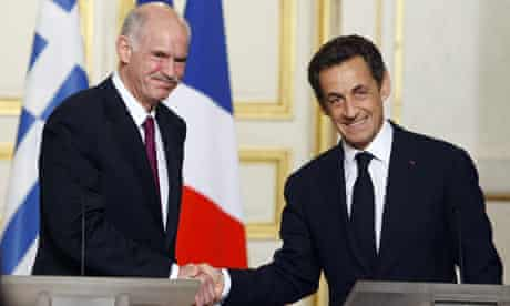 Nicolas sarkozy, Georges Papandreou