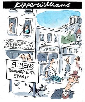 Kipper cartoon Greek debt crisis