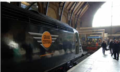 Grand Central train at King's Cross railway station