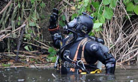 Police diver searches River Aire in Shipley