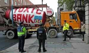 Anglo Irish Bank bailout protest Dublin