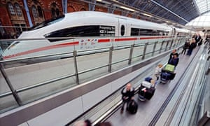 FILES - Eurostar passengers pass an ICE