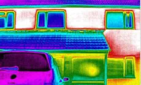 heat loss image of house