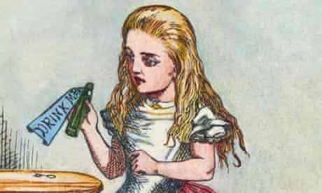 Alice Holding the Bottle Labelled