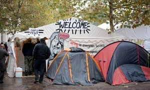 tents outside st paul's