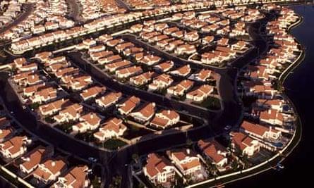 Aerial view of planned housing in Las Vegas