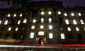 Treasury building by night