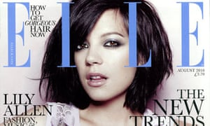 Elle magazine cover featuring Lily Allen