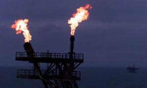A British Gas processing platform.