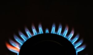 Gas flames on a cooker