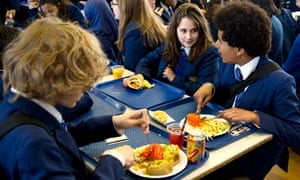Lunch at a school in Streatham, London