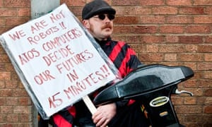 Anti Cuts Demonstrators Picket Atos Healthcare