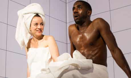 Amanda Drew and Rhashan Stone in Love and Information at the Royal Court.